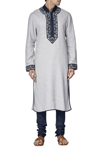 pale-grey-and-navy-blue-embroidered-kurta-set