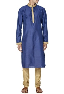 royal-blue-and-gold-embroidered-kurta-set