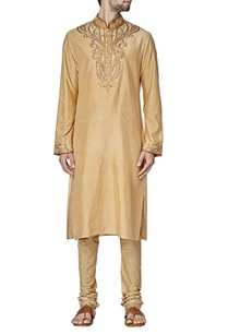 beige-paisley-embroidered-kurta-set
