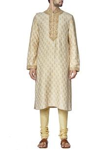 ivory-and-beige-paisely-kurta-set