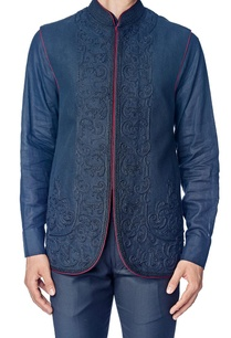 black-dori-embroidered-nehru-jacket-with-shirt
