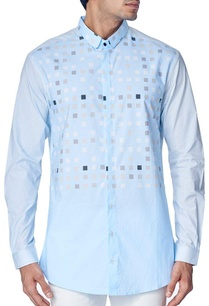 sky-blue-geometrical-block-printed-shirt