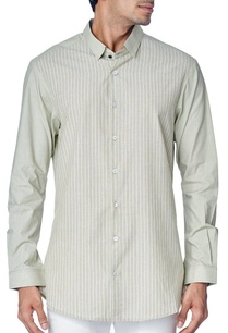 grey-striped-shirt