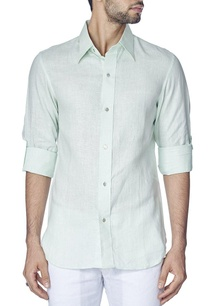mint-green-linen-shirt