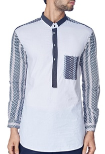 white-shirt-with-grey-blocks-print