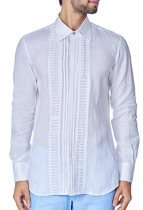 white-pleated-texture-shirt