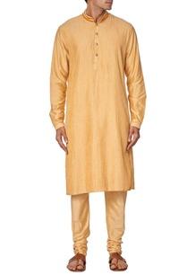 yellow-pleated-kurta-with-churidar