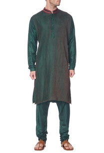 emerald-green-pleated-kurta
