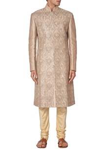 light-brown-silk-embroidered-sherwani