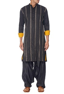 black-zari-embroidered-kurta