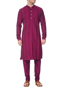 purple-pleated-kurta-with-churidar