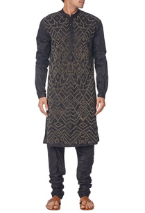 black-brass-sequined-kurta