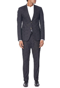 black-suit-with-grey-polka-dots