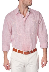 red-cotton-linen-shirt