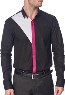 black-shirt-with-fuschia-placket