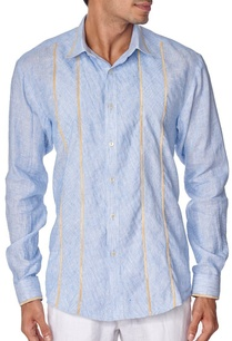 blue-cotton-linen-shirt