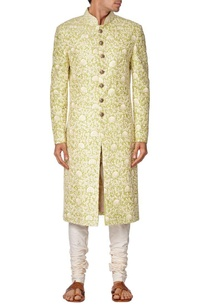 leaf-green-embroidered-sherwani