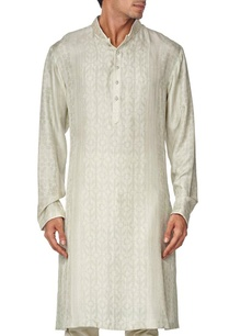 green-printed-embroidered-cotton-kurta-set