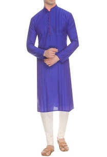 deep-blue-diagonal-striped-pintuck-kurta