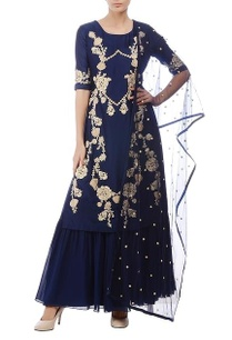 deep-blue-gold-floral-embroidered-kurta-set