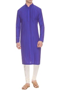 deep-blue-purple-diagonal-pintuck-kurta