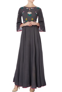 grey-thread-embroidered-maxi-dress