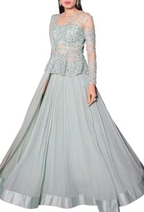 sea-blue-peplum-lehenga-set