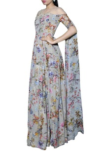 ash-grey-floral-printed-anarkali-with-extended-sleeves