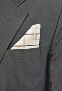 white-checked-pocket-square