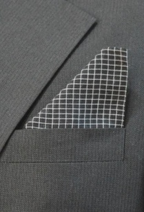 black-checked-pocket-square