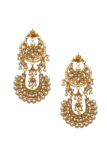 gold-plated-double-chand-pearl-kundan-earrings