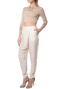 sand-embroidered-crop-top-with%c2%a0white-overlap-pants