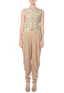 ivory-cutwork-jacket-with-beige-dhoti-pants