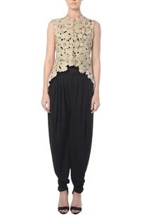 ivory-cutwork-jacket-with-black-dhoti-pants