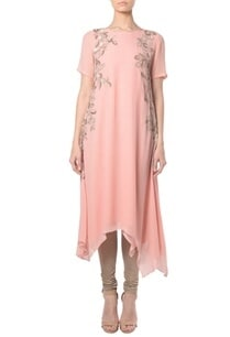 blush-pink-floral-embroidered-tunic-with-churidar