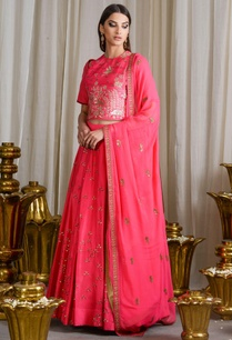 bright-pink-thread-and-sequined-detailed-lehenga-set