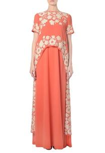 orange-floral-embroidered-kaftan-dress