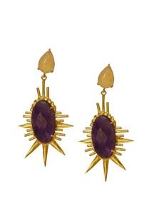 gold-finish-amethyst-beige-earrings