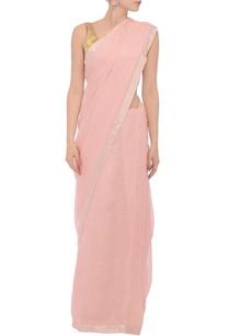 rose-pink-silver-zari-linen-sari