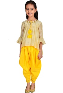 gold-beige-bright-yellow-chanderi-gota-pati-and-mirror-work-suit