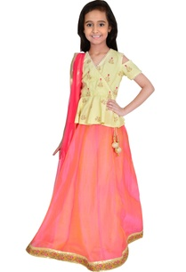 yellow-red-cotton-chanderi-embroidery-lehenga