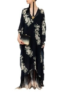 black-floral-fringed-dress