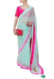 mint-and-fuschia-embroidered-sari
