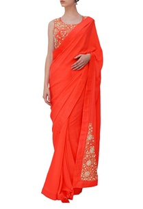 orange-floral-embroidered-sari