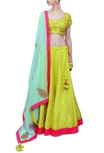 lime-green-sky-blue-embroidered-lehenga-set