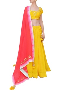 haldi-carnation-pink-embroidered-lehenga-set