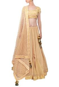beige-embellished-lehenga-set