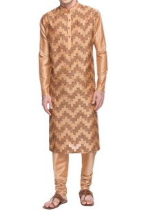 dusky-peach-embroidered-kurta