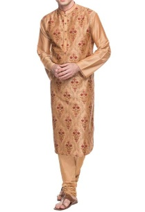 dusky-peach-threadwork-embroidered-kurta