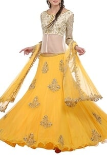 canary-yellow-cream-embroidered-lehenga-set